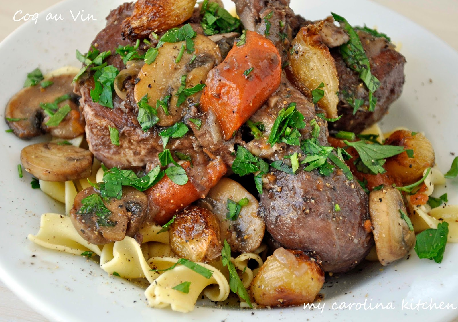 Beef Stew Ina Garten my carolina kitchen: ina's coq au vin – it's just beef bourguignon