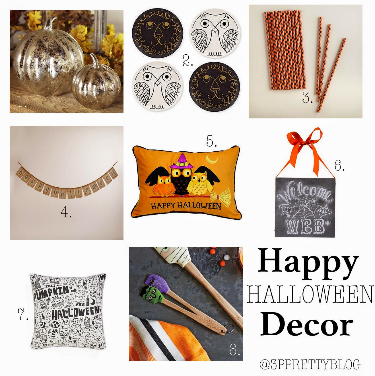 Particularly Practically Pretty: Happy Halloween Decor - Happy Halloween Decorations