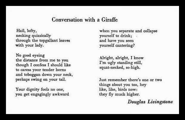 conversation poem example Using the reader-response critic,one feels even bitter about the said racism in the poem telephone conversation.