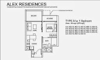 Alex Residences 1 Bedroom Floor Plans