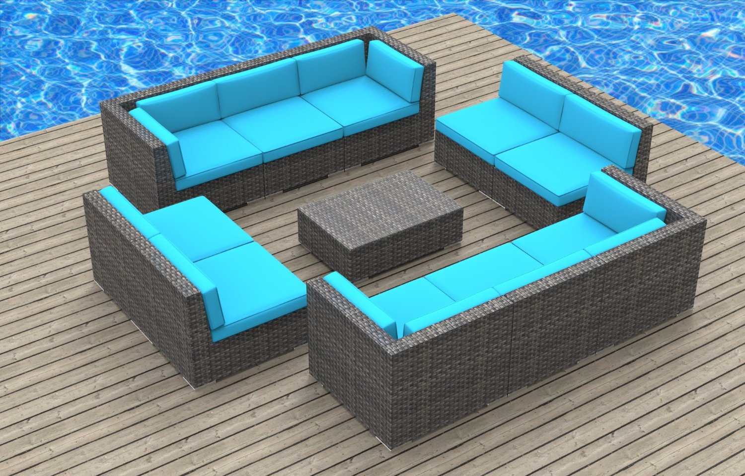 Modern wicker sectional outdoor sofa sets Outdoor sofa tables
