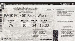 Paok Fc-Sk Rapid Wien