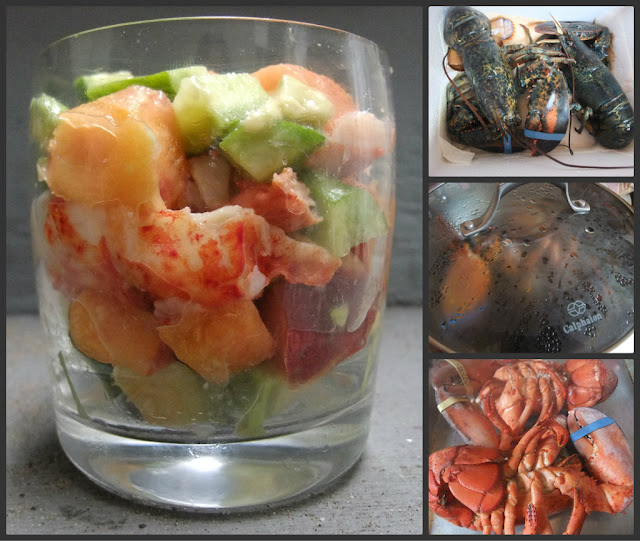 Cooking with Amy: A Food Blog: Peach Avocado Lobster Cocktail Recipe