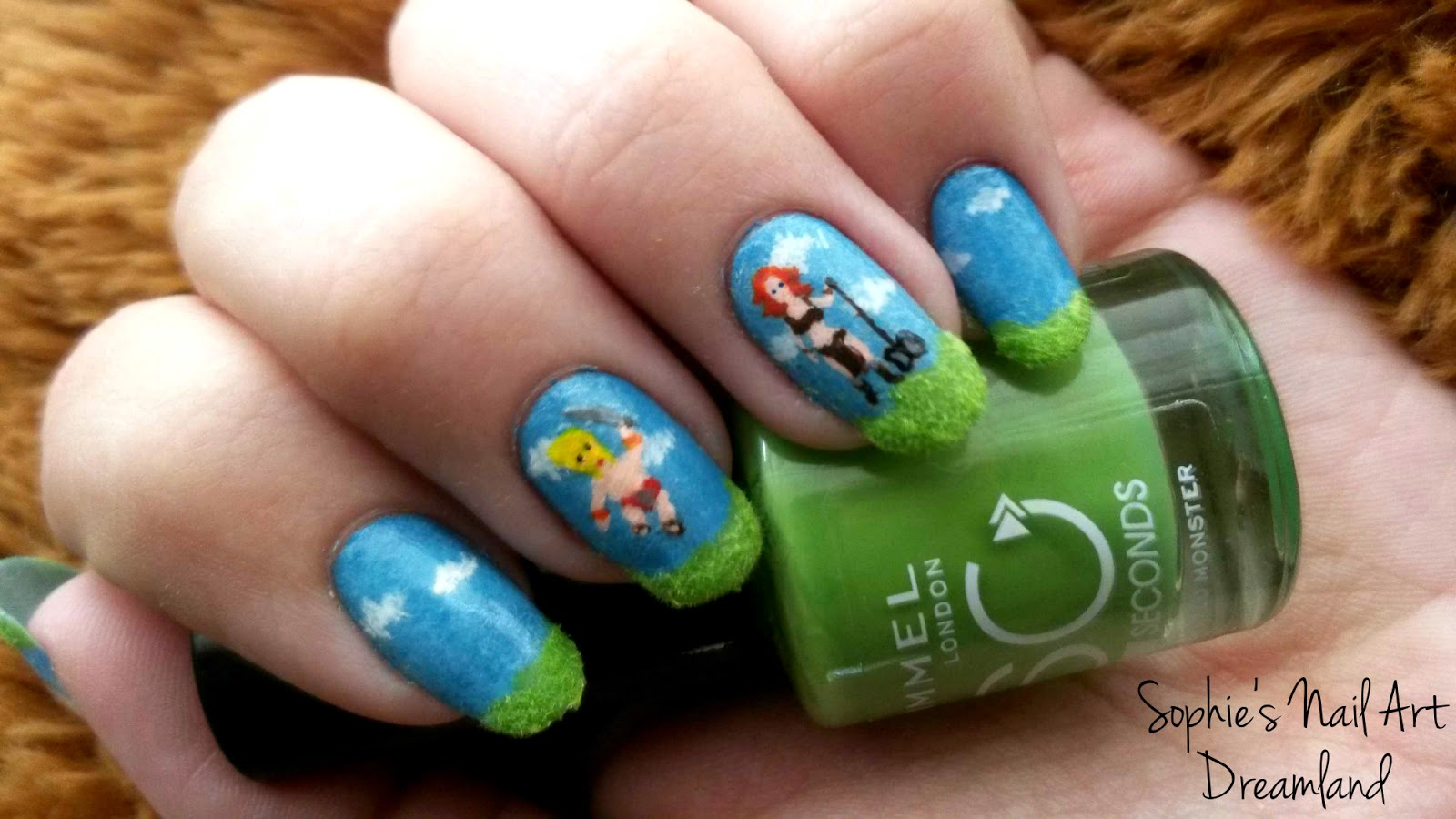 Nail Team Challenege - Cartoons - Clash of clans | Sophie\'s Nail Art ...
