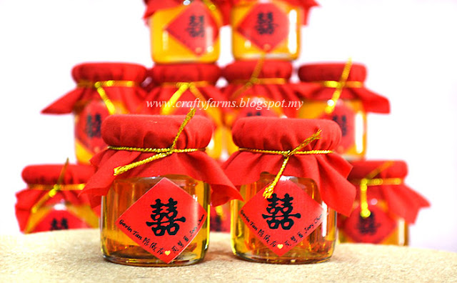 Unique Chinese wedding favours in Malaysia, Honey Jar