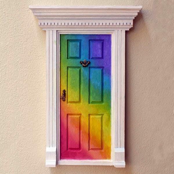 for Rainbow fairy door