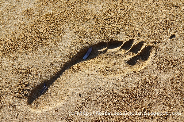 Footprints in late September, Kefalonia