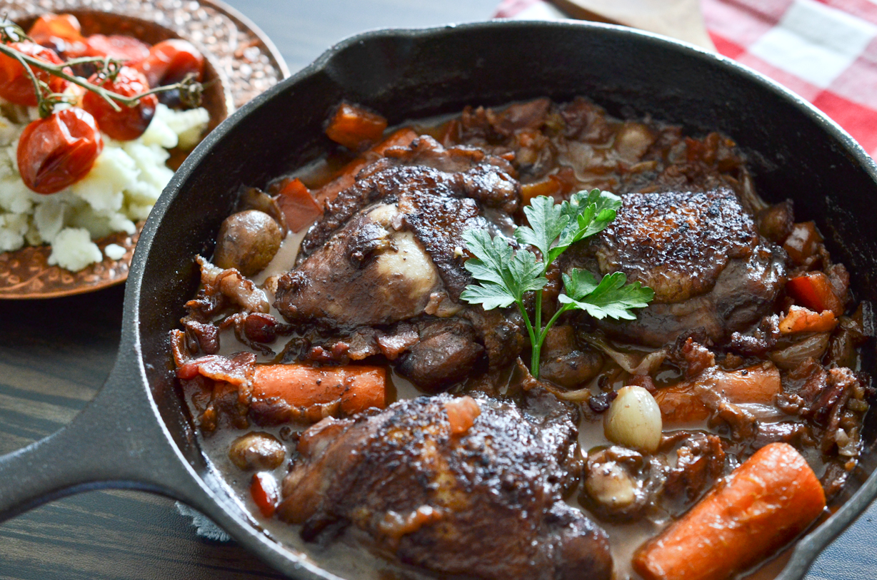 HUNGRYSHER: Coq au Vin (Chicken in Wine)