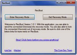Download RecBoot recovery mode iPhone Freeware on your iDevice