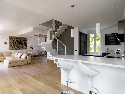 Open space minimalista restyling appartamento anni 39 50 - Arte casa giugliano ...