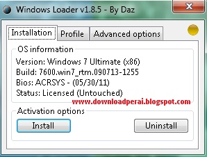 Windows Loader 7 Ultimate