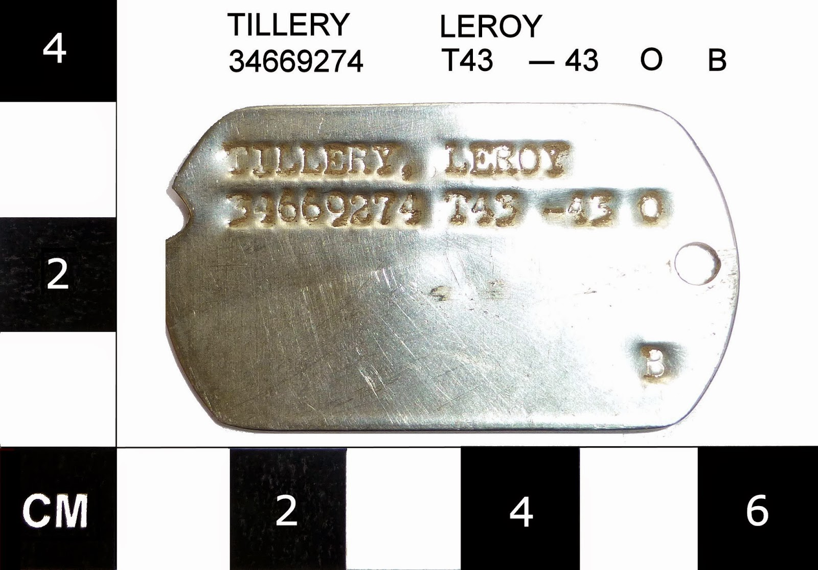 Can We Send Leroy Tillery's US WWII Dog Tag Home? (Case #23)