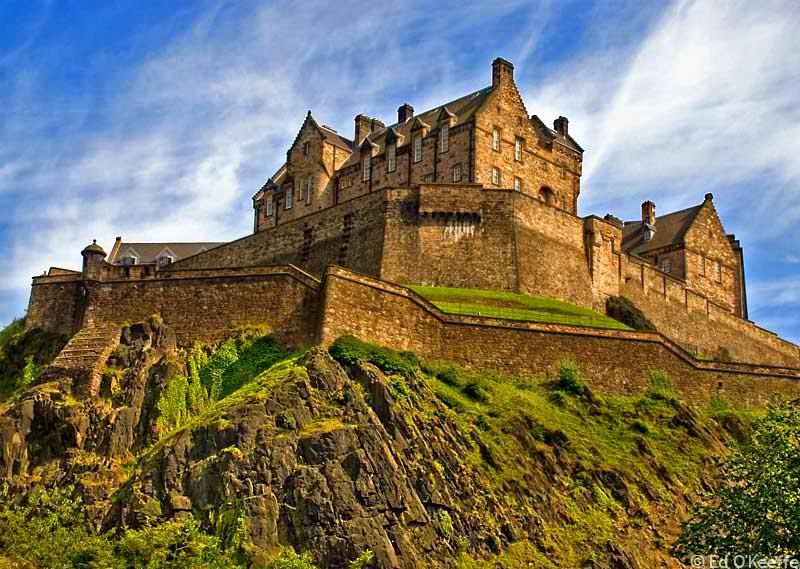 Edinburgh Castle - haunted place ranked 2nd