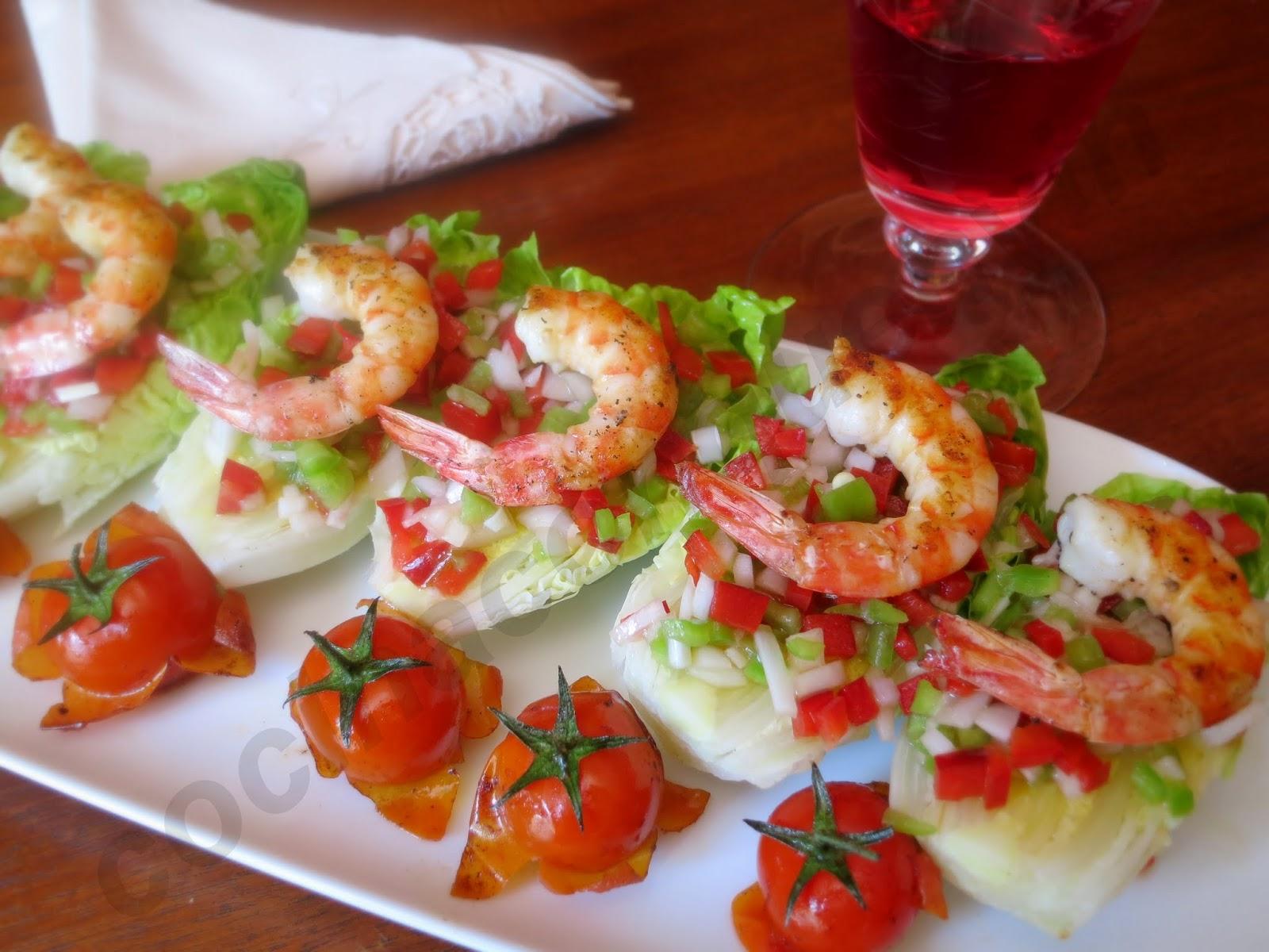 Cocina con quenyin ensalada de cogollos langostinos y - Ensalada de langostinos ...