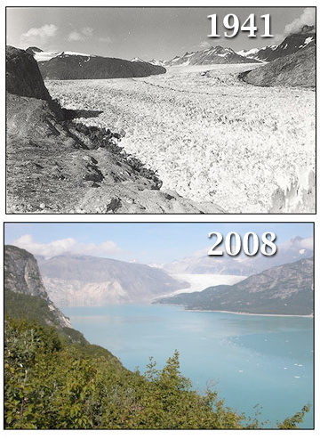 climate change and glacial melting Climate change to shift timing of glacial runoff  melt-water will no longer  contribute to overall runoff as an equivalent amount of water will.
