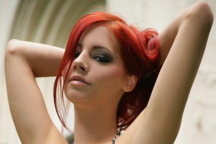 Hot redhead female faces