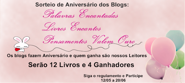 [Sorteio] Aniversário entre blogs amigos
