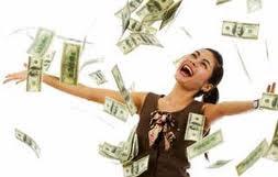uang mengalir dari internet