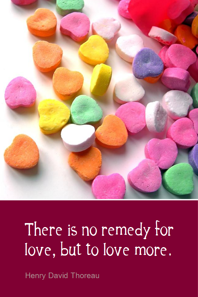 visual quote - image quotation for LOVE - There is no remedy for love, but to love more. - Henry David Thoreau