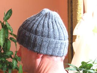 czapka męska na drutach wełniana