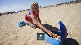 Сейф вкручивается на пляже