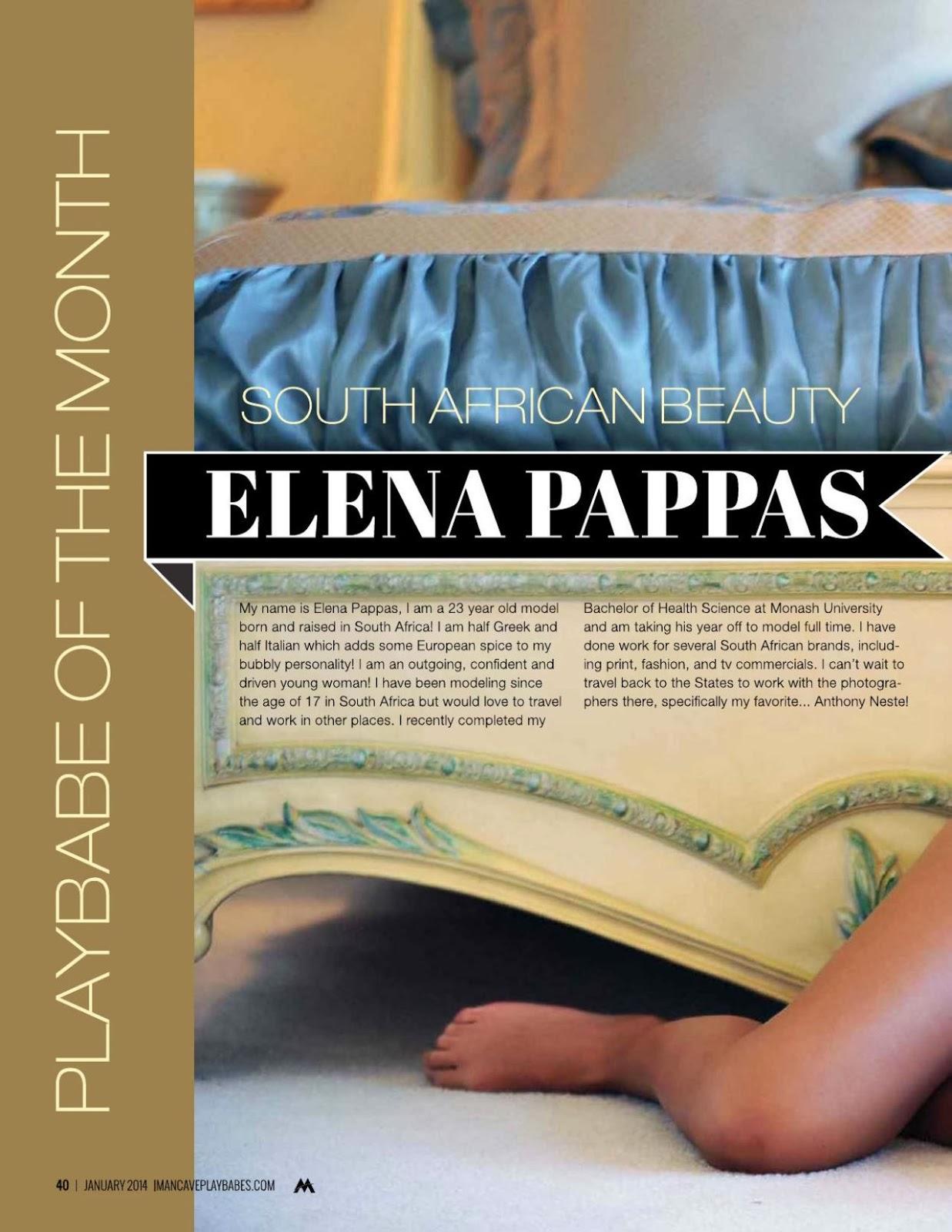 Elena Pappas HQ Pictures Mancave Playbabes Magazine Photoshoot March / April 2014
