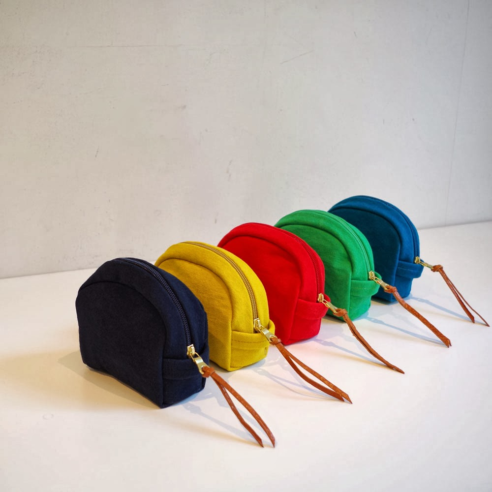 倉敷帆布のシェル型ポーチ<全5色>