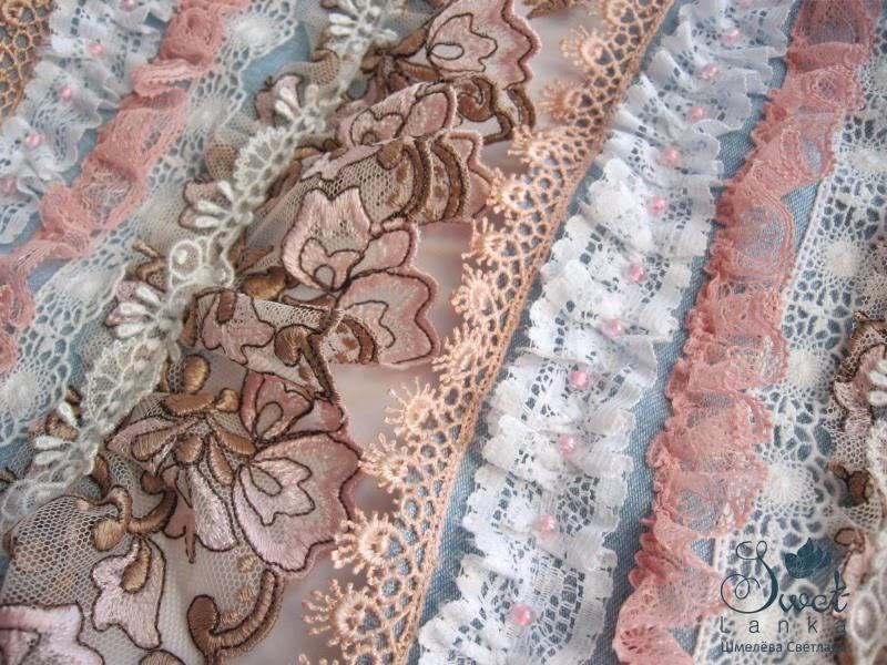 широкий текстильный браслет