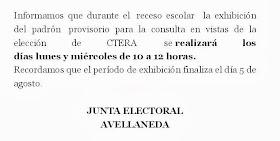 COMUNICADO DE JUNTA ELECTORAL