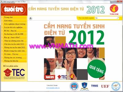 Download CD Cẩm Nang Tuyển Sinh Đại học năm 2012