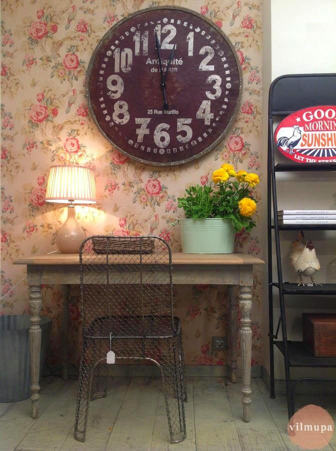 Un toque vintage decorar con relojes de estilo vintage - Reloj de pared vintage ...