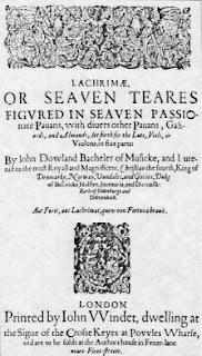 Frontespizio della raccolta Lachrimae di John Dowland