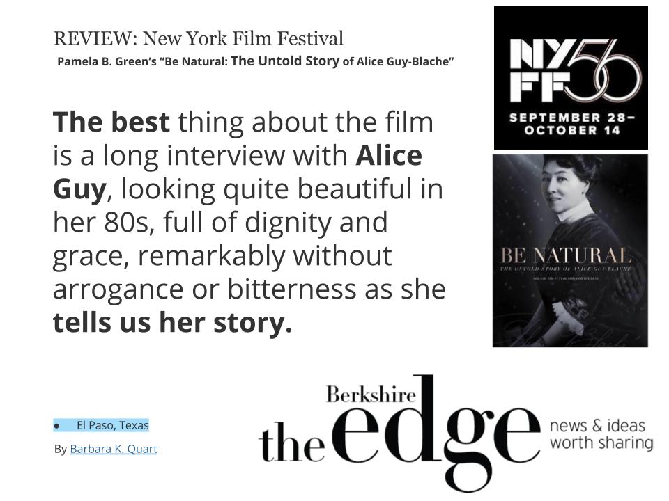 Alice Guy Blache film festival 2019