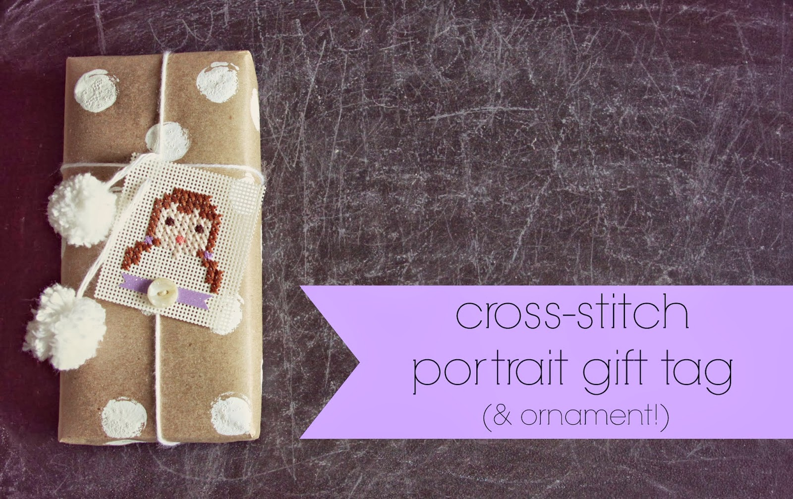 WhiMSy loveDIYCross-stitch Paper Portrait Gift Tags ( ornaments!)