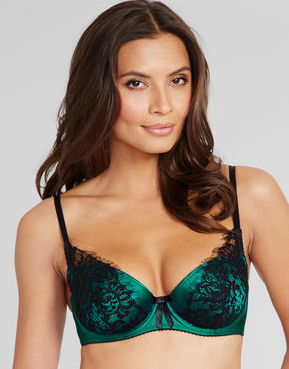 figleaves boudoirTease Silk And Lace B-G Demi Bra