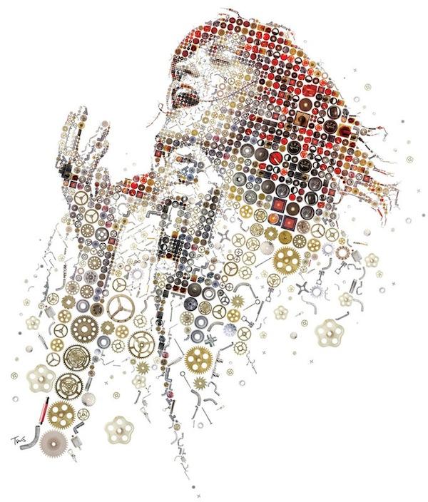 Charis Tsevis. Mosaic Illustrations