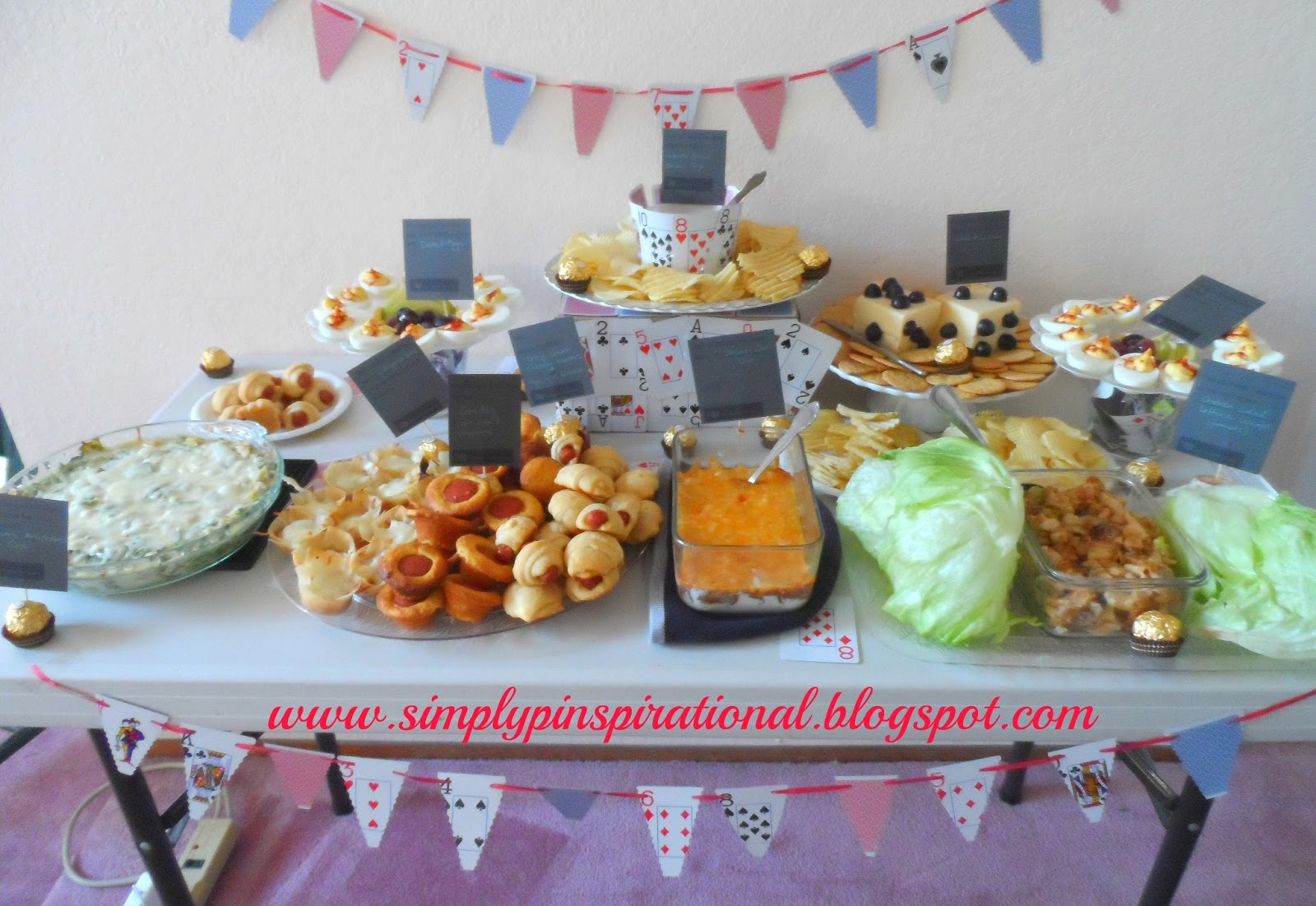 simply pinspirational: game night food table!