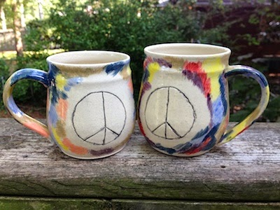 Tie Dye and Peace by Future Relics Pottery