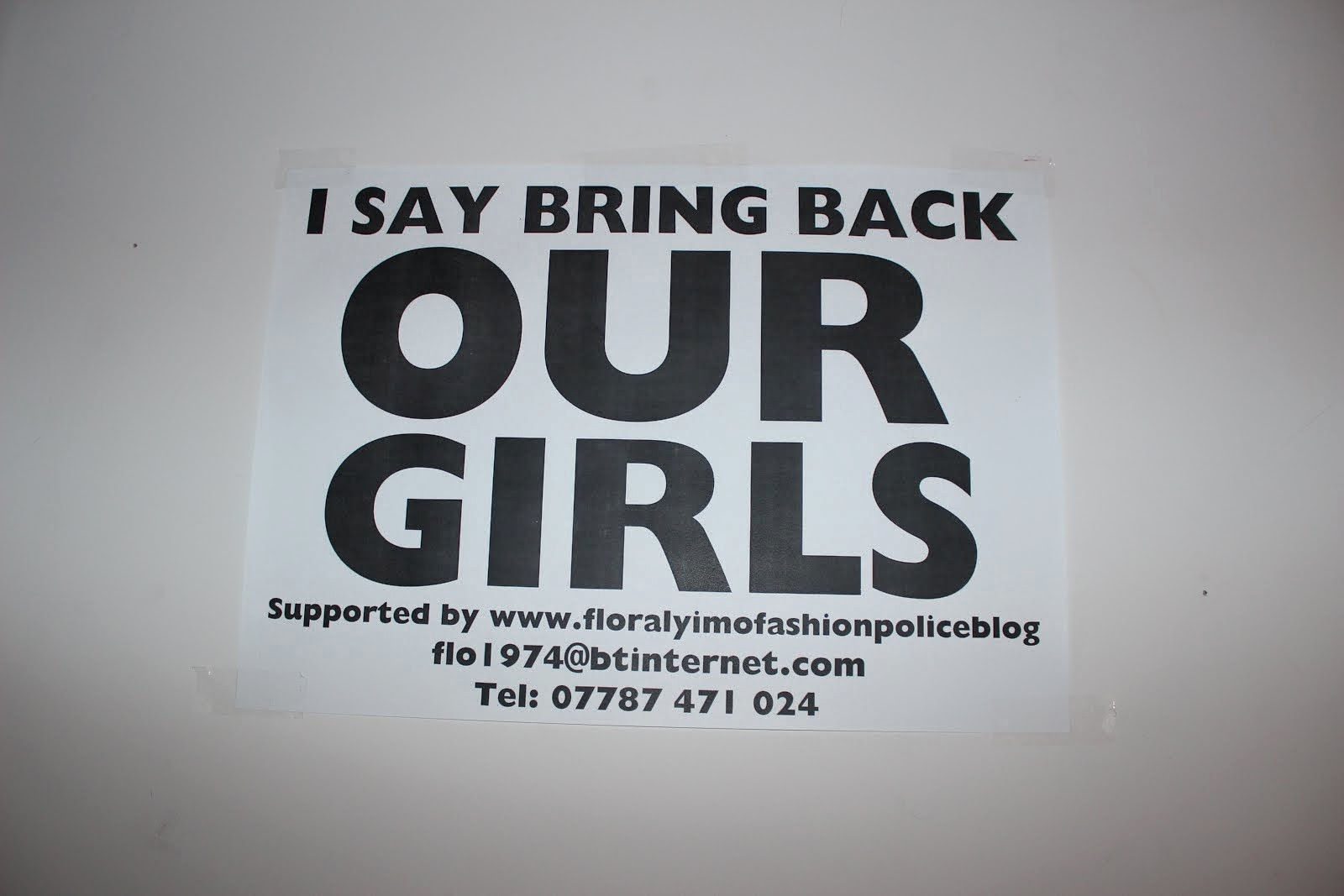 I SAY BRING BACK OUR GIRLS
