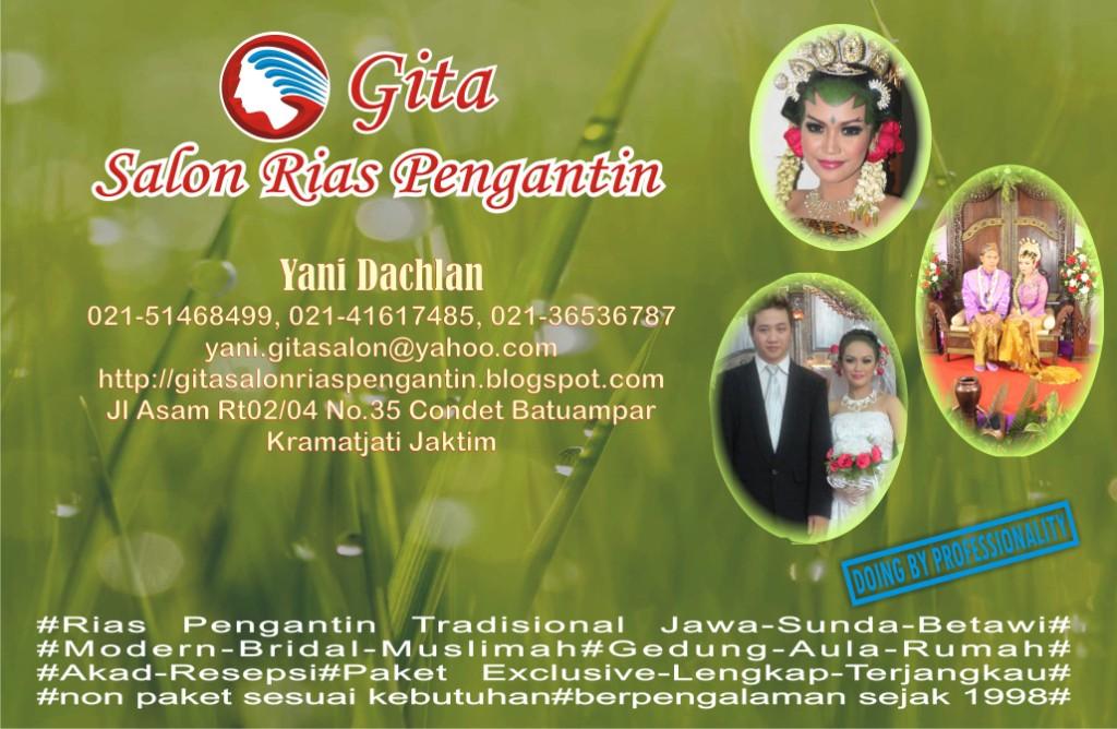 Kartu nama Yani Dachlan Gita Salon Rias Pengantin
