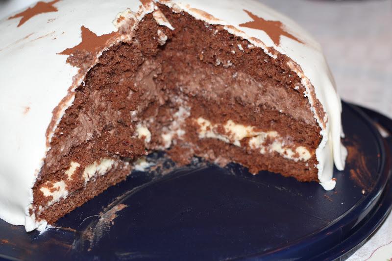 tårta med chokladpudding