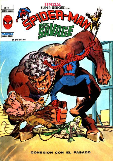 Portada Especial Super Heroes Nº 15 Ediciones Vertice-Spiderman y Doc Savage