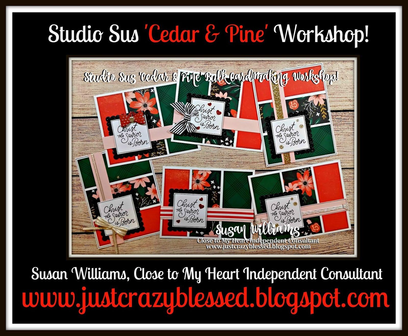 Cedar & Pine Bulk Cardmaking Workshop!