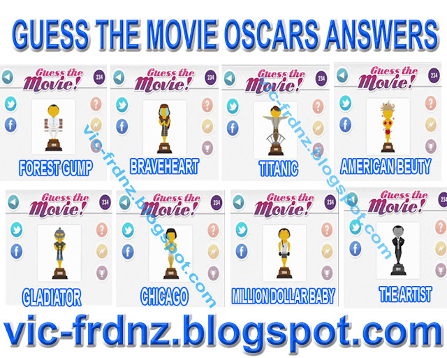 Guess The Movie Oscars Answers