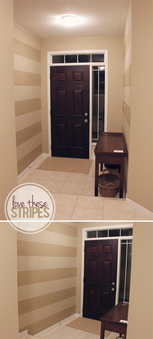 Front Entryway Painted Stripes