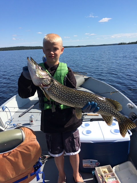 huge giant trophy pike Red Lake Ontario fishing report Nungesser Anglers Kingdom