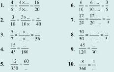 Soal Matematika SD Kelas 6 - Mengubah Pecahan Menjadi Pecahan yang Senilai
