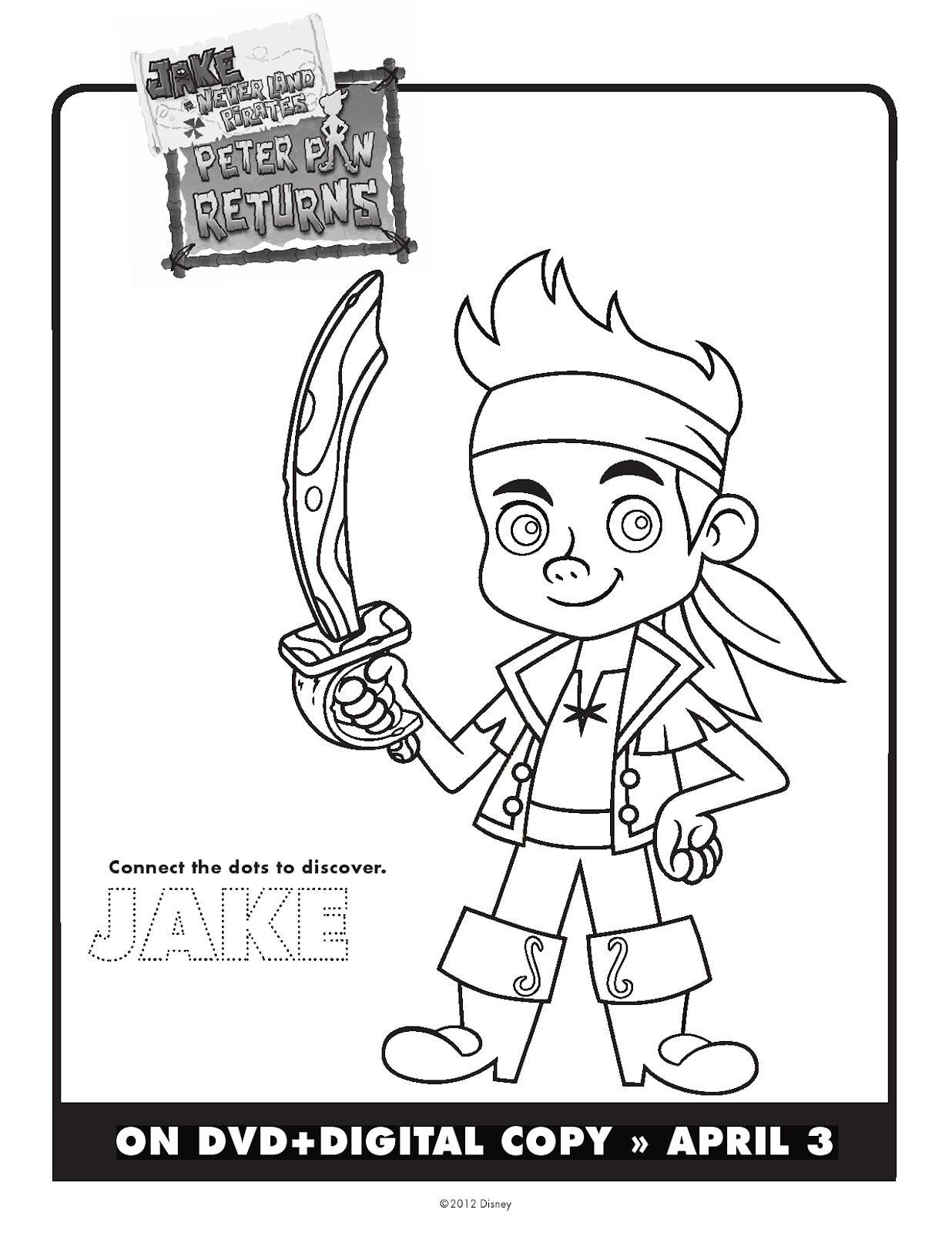 Coloring pages for jake and the neverland pirates - Jack And The Neverland Coloring Pages Printable Jake The Pirate