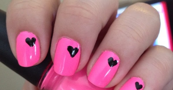 Neon pink nail art creative nail design prinsesfo Image collections