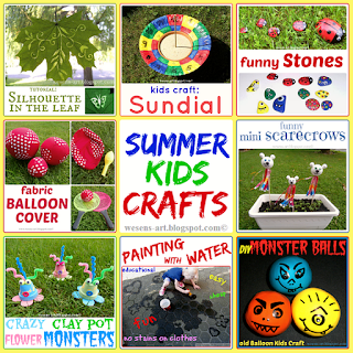 Summer KidsCrafts wesens-art.blogspot.com